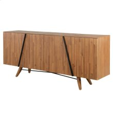 Dartford KD Sideboard 4 Doors, Acorn Brown *NEW*