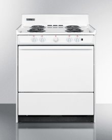 """30"""" Wide Electric Range With Indicator Lights and A Three-prong Line Cord, for Hud Applications."""
