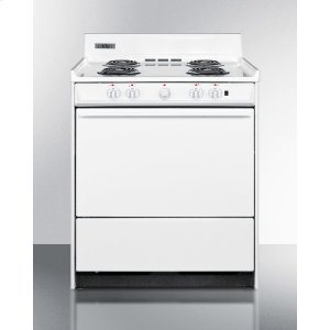 """Summit30"""" Wide Electric Range With Indicator Lights and A Three-prong Line Cord, for Hud Applications."""
