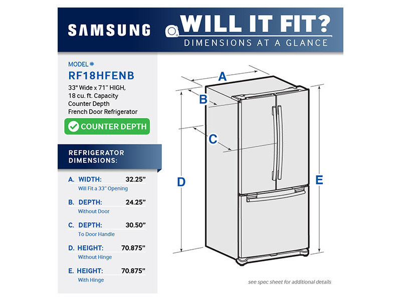 See Samsung Refrigerators In Boston French Doors Rf18hfenbsr