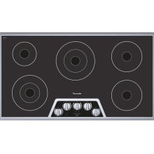 "Masterpiece 36"" Electric Cooktop CEM365FS -"