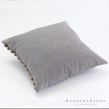 Horn Button Pillow-Himmelblau