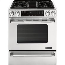 "Slide-In Gas Range with Convection, 30"", Pro-Style® Stainless Handle"
