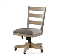 Perspectives Wood Back Upholstered Desk Chair Sun-drenched Acacia finish Product Image