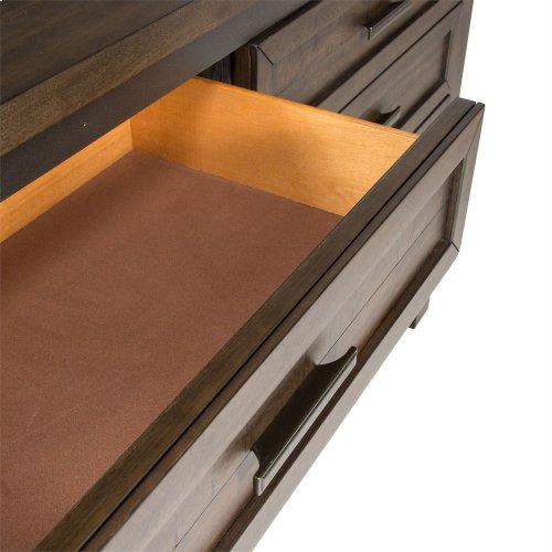 Queen Two Sided Storage Bed, Dresser & Mirror