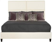 Queen-Sized Palmer Upholstered Sleigh Bed in Espresso