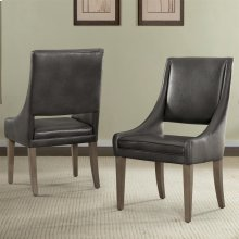 Precision - Upholstered Hostess Chair - Gray Wash Finish