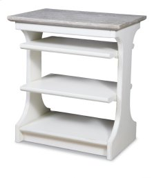 Kennedy Chairside Table - White/riverwash