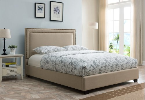 Banff Platform Bed - King, Taupe Linen
