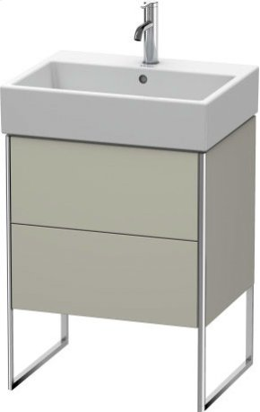 Vanity Unit Floorstanding, Taupe Satin Matt Lacquer