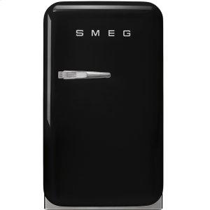 "SmegApprox 16"" 50's Retro Style Mini Refrigerator, Black, Right hand hinge"