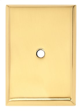 Traditional Backplate A610-45 - Polished Brass