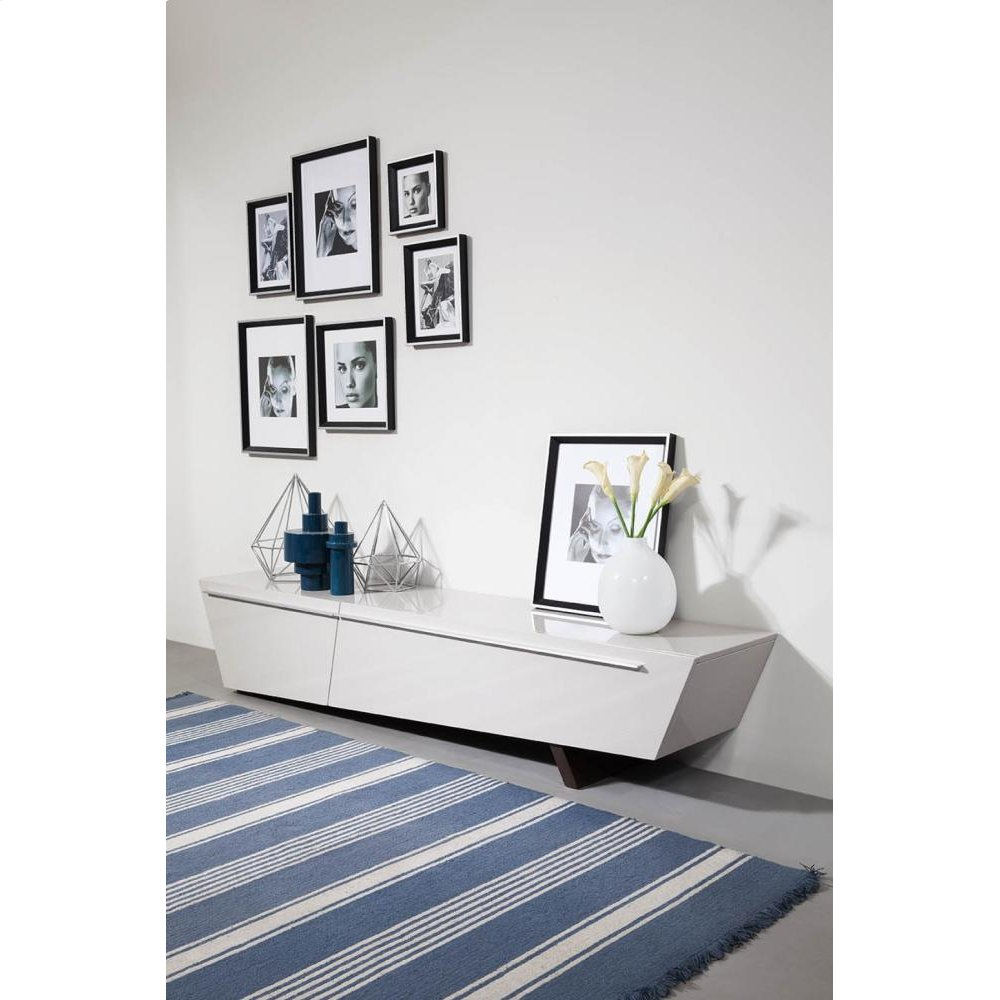 Modrest Barbara - Contemporary Glossy Light Grey TV Unit