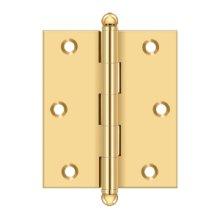"3""x 2-1/2"" Hinge, w/ Ball Tips - PVD Polished Brass"