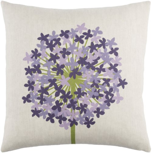 "Agapanthus AP-004 18"" x 18"" Pillow Shell Only"