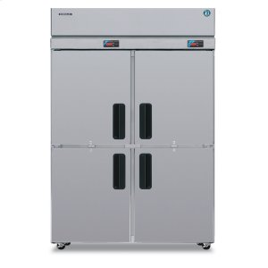 HoshizakiDual Temp Cabinet, Two Section Upright, Half Stainless Door