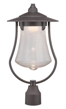 "10"" LED Post Lantern in Aged Bronze Patina"
