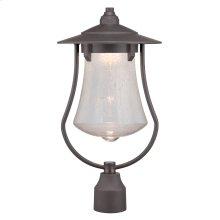"10"" LED Post Lantern in Aged Bronze Patina"