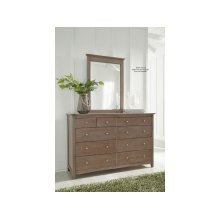 10-Drawer Dresser in Taupe Gray