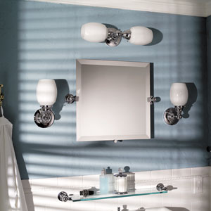"City 212 20 X 20"" Frameless Pivoting Mirror - Polished Chrome"