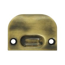 Full Lip Strike Plate For Ball Catch and Roller Catch - Antique Brass