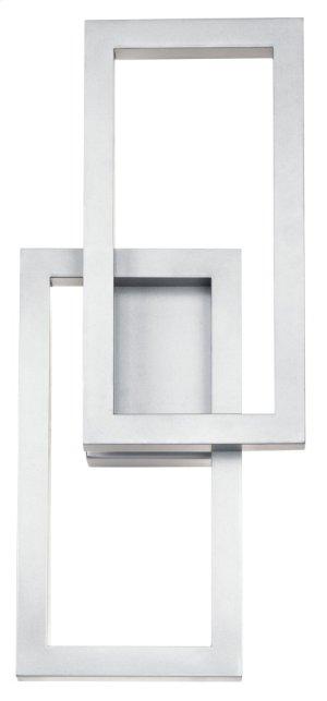 "Rettangolo 19"" 1 Light LED Wall Light Platinum"