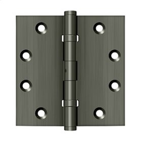 """4 1/2""""x 4 1/2"""" Square Hinges, Ball Bearings - Antique Nickel"""