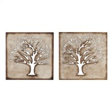 16 x 16 in. Wood Crafted Tree (set of 2)