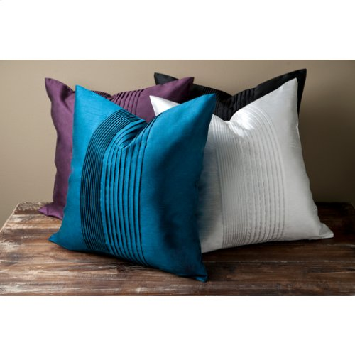 "Solid Pleated HH-027 22"" x 22"" Pillow Shell Only"