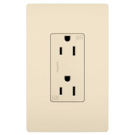 Weather-Resistant Receptacle, Light Almond