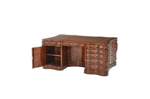 Joint Partnership Pedestal Desk - High Gloss