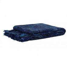 Plaid 125x150 cm ROYKA dark blue-denim