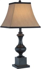 Table Lamp - Dark Bronze/beige Fabric Shade, E27 Type A 150w Product Image