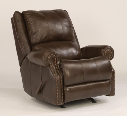 Sedgewick Leather or Fabric Rocking Recliner