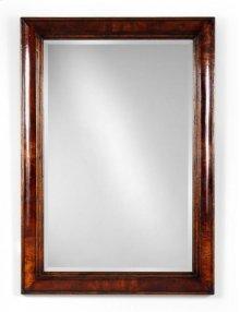 Crotch Mahogany Cushion Framed Mirror
