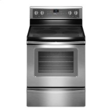 Whirlpool® 5.3 Cu. Ft. Freestanding Electric Oven Range with FlexHeat™ Triple Radiant Element - Black-on-Stainless