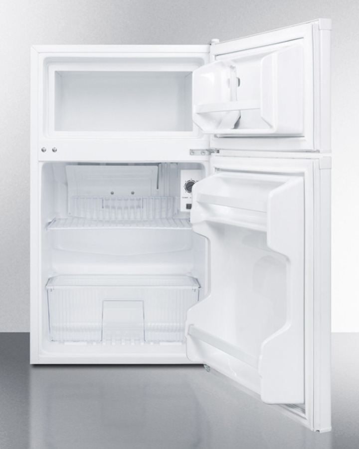 Compact Energy Star Listed Two Door Refrigerator Freezer With Two Side Locks  And Cycle