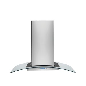 Electrolux36'' Glass and Stainless Canopy Island-Mount Hood