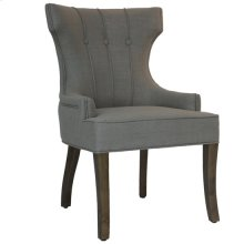 Sullivan 3 Button Vertical Welp Upholstered Oatmeal Linen Chair