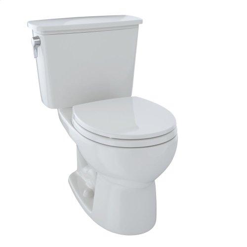 Eco Drake® Transitional Two-Piece Toilet, 1.28 GPF, Round Bowl - Colonial White