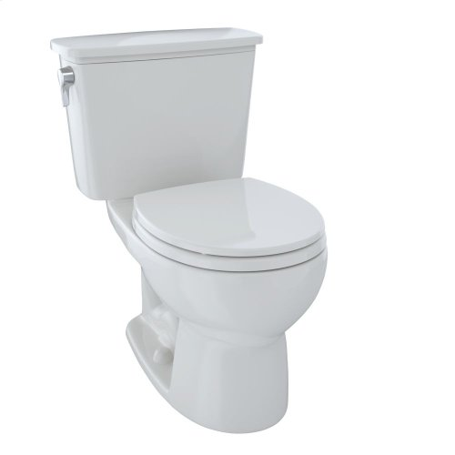 Eco Drake® Transitional Two-Piece Toilet, 1.28 GPF, Round Bowl - Colonial White