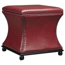 Seward Storage Stool In Red