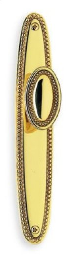Traditional Beaded Narrow Plate Knob Latchset - Solid Brass in US26 (Polished Chrome Plated) Product Image