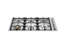 36 Drop-in low edge cooktop 6-burner Stainless