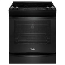 Black Whirlpool® 6.2 cu. ft. Slide-In Electric Stove with TimeSavor™ Convection