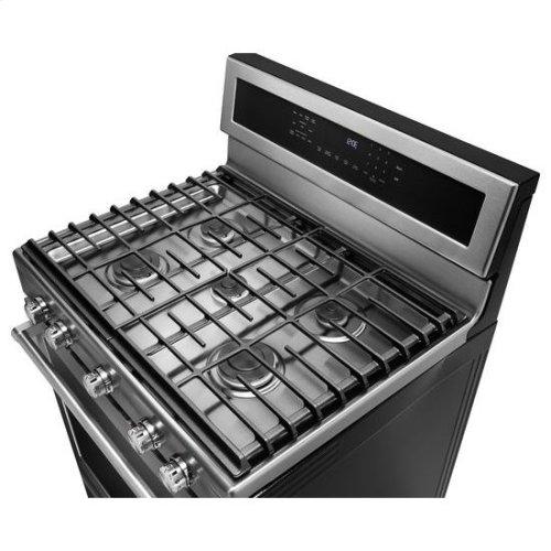 KitchenAid® 30-Inch 5-Burner Gas Convection Range - Black