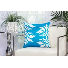 "Outdoor Pillow As065 Turquoise 20"" X 20"" Throw Pillow"