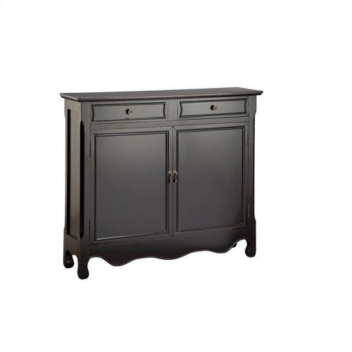 Claridon 2-door 2-drawer Cabinet In Black