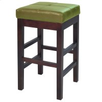 Valencia Backless Leather Counter Stool, Wasabi Product Image