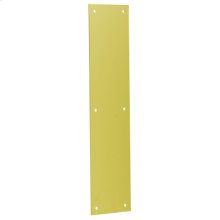 "Door Accessories  3.5"" x 15"" Push Plate - Bright Brass"